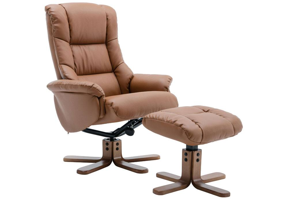 GFA Florence Swivel Recliner & Footstool