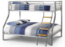 Julian Bowen - Atlas Triple Sleeper Bunk Bed with Mattresses - Package