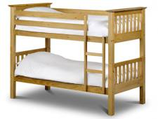 Julian Bowen - Barcelona Antique Pine Bunk Bed with Mattresses - Package