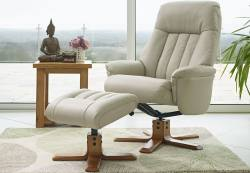 GFA - St Tropez Swivel Recliner & Footstool