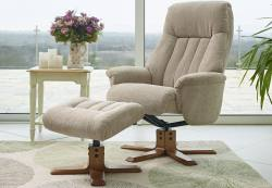 GFA - St Tropez Fabric Swivel Recliner & Footstool