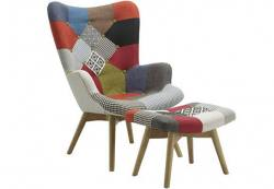 Birlea Furniture - Sloane Chair & Footstool