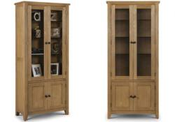 Julian Bowen - Astoria Oak Display Cabinet