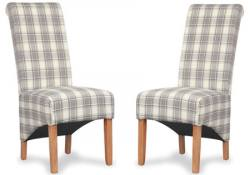 Shankar - Krista Herringbone Fabric Dining Chairs - Set of 2