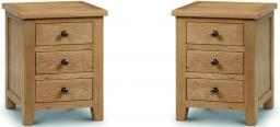 Julian Bowen - Marlborough 3 Drawer Bedside Chest - Set of 2