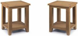 Julian Bowen - Astoria Oak Lamp Table - Set of 2