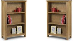 Julian Bowen - Astoria Oak Low Bookcase