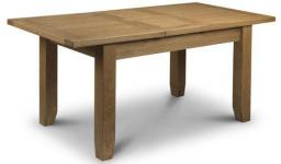 Julian Bowen - Astoria Oak Extending Dining Table & 4 Chairs