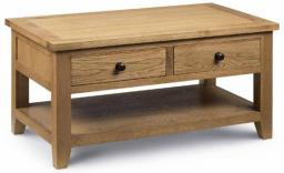 Julian Bowen - Astoria Oak 2 Drawer Coffee Table