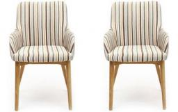 Shankar - Sidcup Stripe Dining Chairs - Set of 4