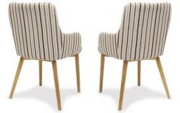 Shankar - Sidcup Stripe Dining Chairs - Set of 6