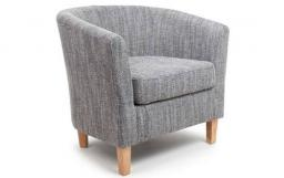 Shankar - Tub Tweed Grey Chair & Footstool