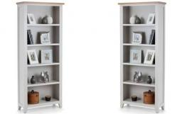 Julian Bowen - Richmond Grey Tall Bookcase