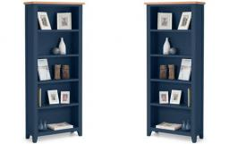 Julian Bowen - Richmond Midnight Blue Tall Bookcase