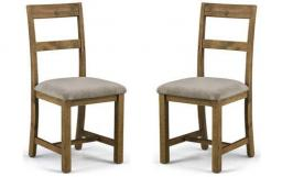 Julian Bowen - Aspen Reclaimed Pine Extending Dining Table & 4 Chairs