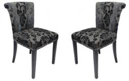 Shankar - Sandringham Baroque Velvet Accent Chair - Set of 4