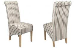 Shankar - Krista Chenille Stripe Dining Chairs - Set of 4