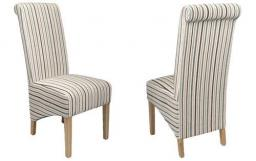 Shankar - Krista Chenille Stripe Dining Chairs - Set of 6