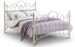 Julian Bowen - Florence Metal Double Bed with Mattress - Package
