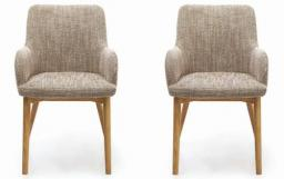 Shankar - Sidcup Tweed Oatmeal Dining Chairs - Set of 6