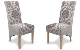 Shankar - Krista Baroque Velvet Dining Chairs - Set of 4