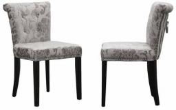 Shankar - Sandringham Baroque Velvet Accent Chair - Set of 6