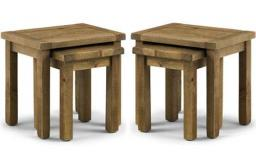 Julian Bowen - Aspen Reclaimed Pine Nest of Tables - Set of 2