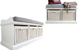 Statement Furniture - Tetbury Large & Small White Bench - Package