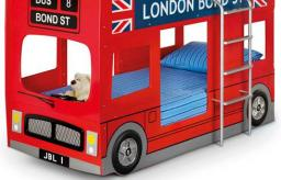 Julian Bowen - London Bus Bunk Bed with Mattresses - Package