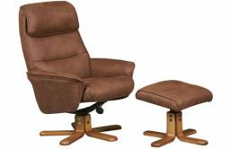 GFA - Amalfi Swivel Recliner & Footstool