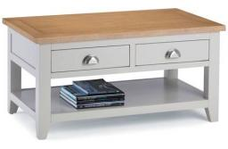 Julian Bowen - Richmond Grey 2 Drawer Coffee Table