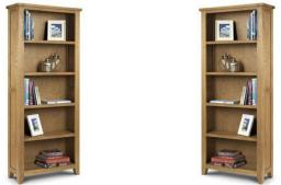 Julian Bowen - Astoria Oak Tall Bookcase
