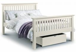 Julian Bowen - Barcelona White Double Bed - High Foot End