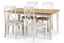 Julian Bowen - Davenport Rectangular Dining Set