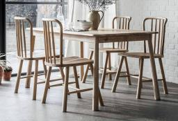 Gallery Direct - Wycombe Oak Small Dining Table & 4 Chairs