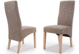 Shankar - Baxter Tweed Oatmeal Dining Chairs - Set of 2