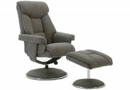 GFA - Biarritz Fabric Swivel Recliner & Footstool