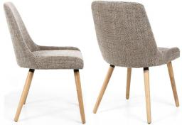 Shankar - Capri Tweed Oatmeal Dining Chairs - Set of 2
