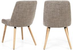 Shankar - Capri Tweed Oatmeal Dining Chairs - Set of 4