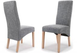 Shankar - Baxter Tweed Grey Dining Chairs - Set of 2
