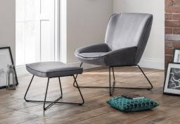 Julian Bowen - Mila Accent Chair & Footstool
