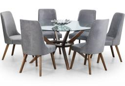 Julian Bowen - Chelsea Large Dining Table with Huxley Dining Chairs