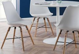 Julian Bowen - Blanco Dining Table with 4 Kari Dining Chairs