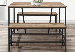 Birlea Furniture - Urban Dining Table & Benches