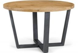 Julian Bowen - Brooklyn Round Oak Dining Table & 4 Brooklyn Chairs