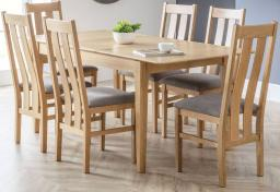 Julian Bowen - Cotswold Oak Extending Dining Table & 6 Chairs