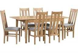 Julian Bowen - Cotswold Oak Extending Dining Table & 4 Chairs
