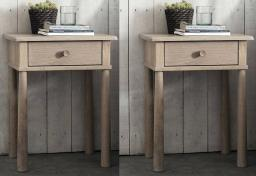 Gallery Direct - Wycombe Oak 1 Drawer Bedsides - Set of 2