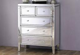 Birlea Furniture - Valencia Mirrored 3 + 2 Drawer Chest