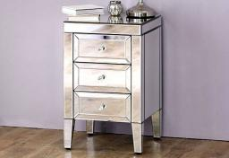 Birlea Furniture - Valencia Mirrored 3 Drawer Bedsides - Set of 2